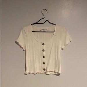 Aero white bottom down shirt